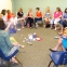 Our first momsHOO' mtg of Fall Semester, 2015